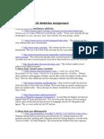 20 Websites Assignment