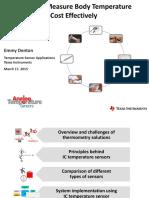 Temperature Sensing Considerations