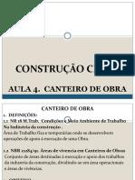 Const. Civil I. Aula 4 - Canteiro Obras.pdf