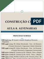 Const. Civil I. Aula 8 - Alvenarias.pdf