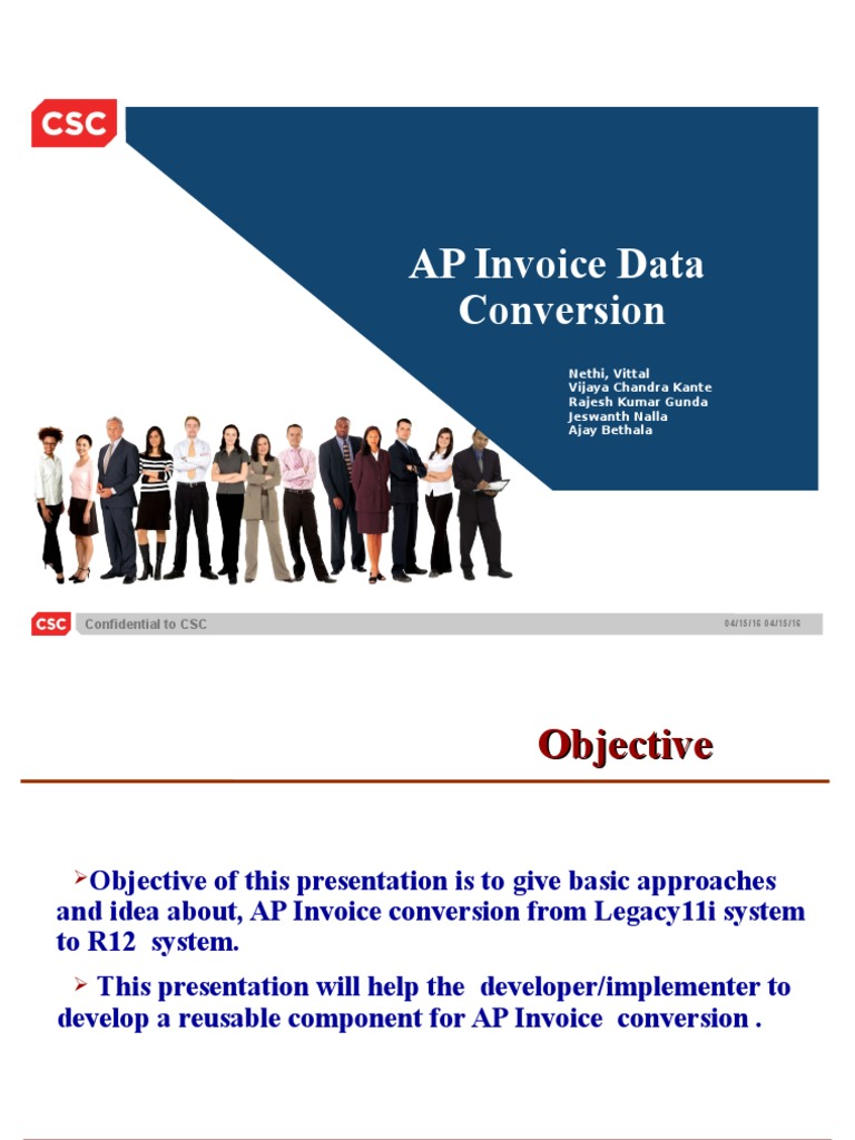 AP Invoice Conversion | Invoice | Application Programming Interface