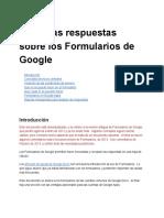 Todas Las Respuestas Sobre Formularios - Documentos de Google
