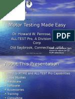 Motor Testing Made Easy 2002