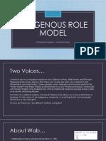 indigenous role model comparison