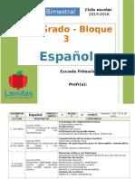 Plan 2do Grado - Bloque 3 Español.doc