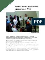 2016-04-14 Se Compromete Enrique Serrano Con Empresarios de NCG