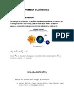 energia dianonizacion quimica