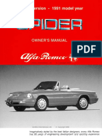 1991-1994 Spider Owner's Manual