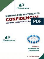 Monitor País- Temas de Coyuntura (03/04/2016)