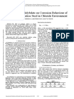 The Effect of Molybdate on Corrosion Behaviour of AISI 316Ti Stainless Steel in Chloride Environment