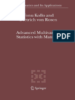 Kollo,Rosen - Advanced Multivariate Statistics With Matrices (2005)