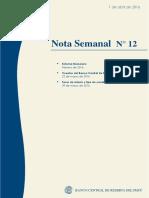 Nota Semanal N° 12 BCRP