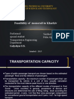Feasibility of Monorail in Kharkiv