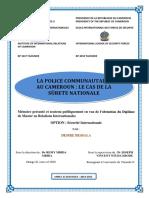 LA POLICE COMMUNAUTAIRE AU CAMEROUN