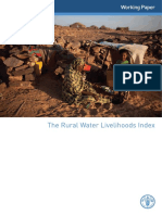 FAO. Rural Water Livelihoods Index. 2012