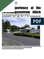 Work experience at the Forschungszentrum Jülich