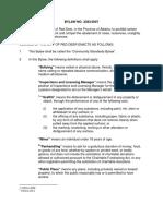 Red Deer Community Standards Bylaw