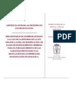 Ficha Asistencia Letrada Al Detenido en Los Delitos Leves. Preceptividad de Nombrar Letrado a Luz de La Reforma de La LECrim