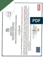 Certificado de Pedagogia