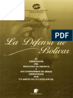 Defensa de Bolívar. Sr