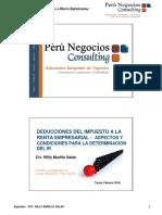 Deducciones Del Ir Empresarial -Cpc.wily Murillo