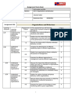 Unit 3. ORGANISATIONS and BEHAVIOUR Assignment Brief - Updated 01 March 2016