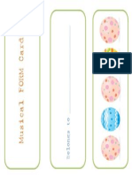 Musical FORM Cards With Easter Theme by TPreece PDF