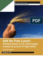 Still No Free Lunch