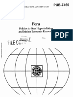Peru - Policies to Stop Hyperinflation - Full Report