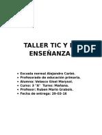 TALLER TIC Y LA ENSEÑANZA