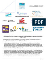 Principles For The Future Of The California Children's Services Program