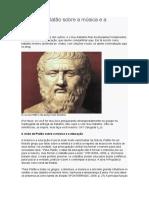 A Visão de Platão Sobre a Música e a Educação