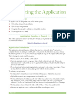 2015 Application Instructions