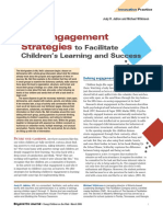 using engagement strategies to facilitate childrens learning and success