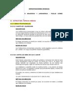 ESPECIFICACIONES TECNICAS CASCAS
