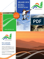 Urlaubsmagazin und Gastgeberverzeichnis Oberharz 2010