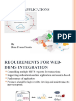 Web Dbms Applications
