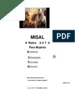 Misas Retiro Acts.