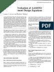 Mechanistic Evaluation of AASHTO Flexible Pavement Design Equations