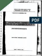 Analisis Pseudo Dinamico de Estabilidad Quebrada Oscollo