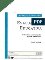 27. Evaluación y Autoevaluación. Algunas Definiciones