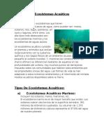 Ecosistemas Acuáticos