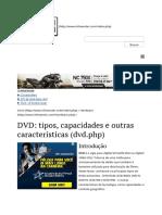 DVD_ Tipos, Capacidades e Outras Características