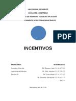 Incentivos, planes de incentivos