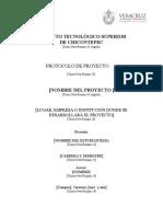 5 Anexo 1. Formato Del Protocolo Del Proyecto Integrador