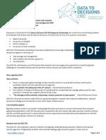 Data Decisions Crc Postgraduate Research Scholarships