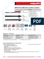Technical Data Sheet for HVU Adhesive Anchor System Technical Information ASSET DOC 2331232