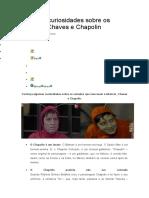 Algumas Curiosidades Sobre Os Seriados Chaves e Chapolin
