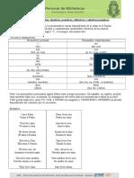 Clase 18 Pronombres Y Adjetivos Posesivos