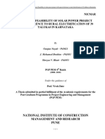 Thesis on Solar Power Project